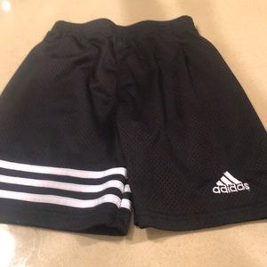 Adidas black mesh shorts size 6